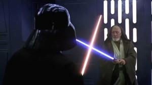 Darth Vader contra Obi Wan Kenobi