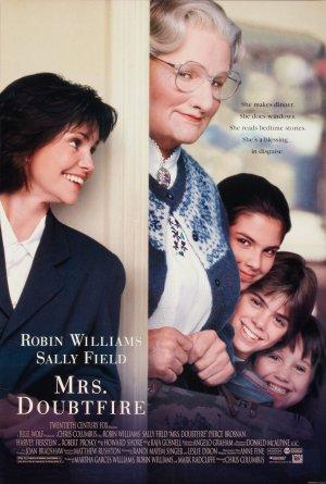Poster (cartel promocional) de Mrs Doubtfire
