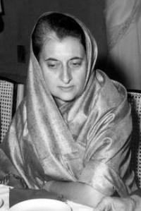 Indira Gandhi,  Ex primera ministro de India.