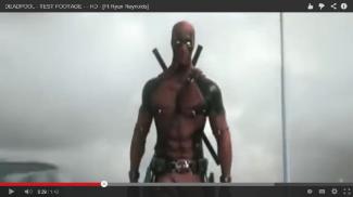 "Captura de pantalla del metraje de prueba de ""Deadpool"" la película.  (Copyright: 2013 20th Century Fox/Marvel Comics)"
