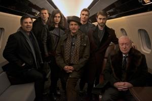 El elenco de Now You See Me 2 en el set (Foto por Fandango)