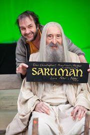 El director cinematográfico Peter Jackson junto a Christopher Lee  (Foto tomada del Facebook Oficial de Peter Jackson)