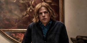 Jesse Eisenberg interpretando a Lex Luthor en Batman vs Superman Dawn of Justice