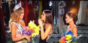 Ariadna Gutiérrez Fue declarada Miss Universo 2015  pero minutos después el presentador Steve Harvey anunció que cometió un error y que la ganadora del certamen era Miss Filipinas, Pia Wurtzbach, por lo que su compatriota Paulina Vega le retiró la corona y pasó a ocupar el lugar de Primera finalista de Miss Universo