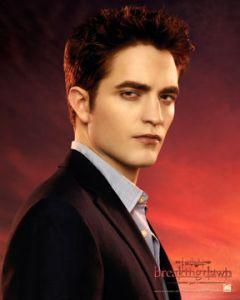 Robert Pattinson en su personaje del vampiro Edward Cullen en la Saga de Twilight