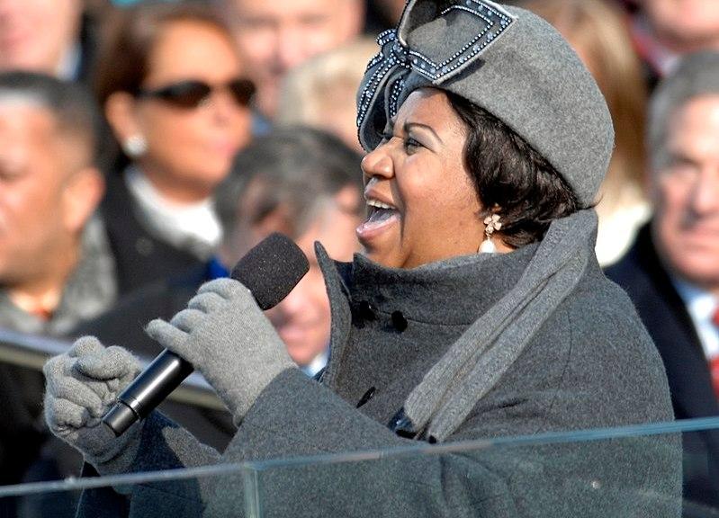La cantante Aretha Franklin