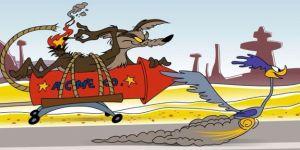 El Coyote Willie E. Coyote junto al Corre Caminos