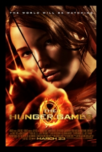 Cartel promocional (Poster) de la película THE HUNGER GAMES (LOS JUEGOS DE HAMBRE) basada en la novela de Suzanne Collins)