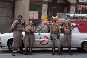Leslie Jones, Melissa McCarthy, Kate McKinnon and Kristen Wiig in Ghostbusters (2016)