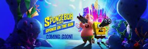 Poster (Cartel promocional) Spongebob Movie: Spongebob on the Run. la tercera pelicula de Bob Esponja