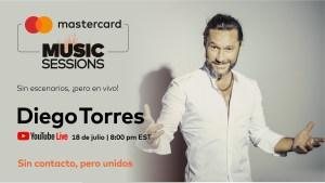 Anunco Diego Torres como parte de los conciertos virtuales de Priceless.com de Mastercard