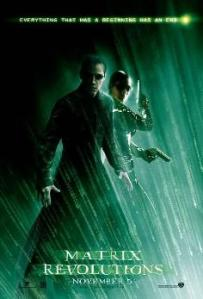 Matrix Revolutions (Matrix revoluciones) poster/cartel promocional