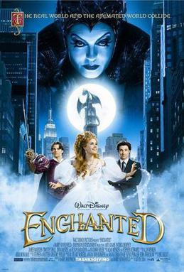 Cartel promocional (poster) de la película de 2007 ENCHANTED (Encantada)
