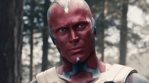 El actor Paul Bettany interpreta al personaje de Marvel Comics VISION