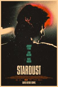 El cartel (poster) promocional de STARDUST (2020) película sobre David Bowie