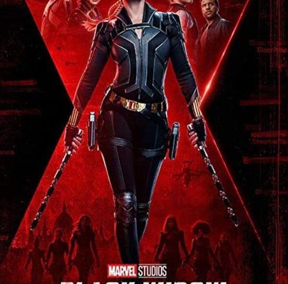 Cartel promocional (poster) de la película de Black Widow en el UCM