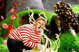 Michael Bollner interpretando al gloton Augustus Gloop en Willy Wonka y la fabrica de chocolate (1971)